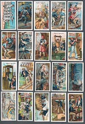 1905 John Player & Sons Life on Board A Man of War Tobacco Cards Complete Set