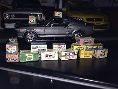 1/43 scale diorama garage Branded Boxes #SET 1