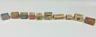 1/24 scale diorama garage Branded Boxes Old Style #SET 2
