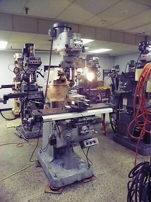 Bridgeport Series 1 2 HP Vertical Mill Milling Machine with DRO, Vise, Collets