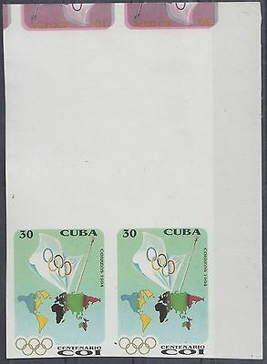 1994.226 ANTILLES CARIBBEAN 1994 MNH IMPERF ERROR PROOF PAIR. 30c OLYMPIC COI.