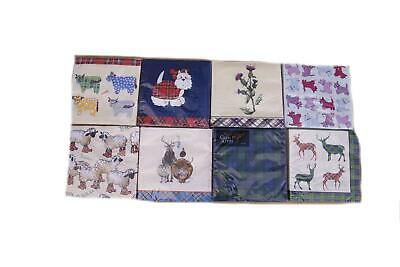 Scottish & Tartan Themed Paper Napkins Serviettes - Stag Thistle Sheep Dog Cow