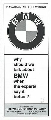 Auto Brochure - BMW - 1600 2002 - c1968/69 - 2 items (A1132)