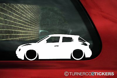 2x LOW Nissan Juke Lowered outline silhouette stickers / jdm car Decals