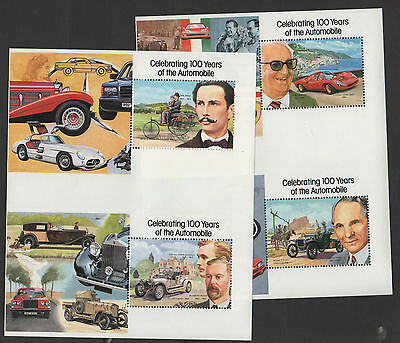 1987 St Vincent 1048-1051 Cars Missing Gold Archival Proof Pairs! Rare item!