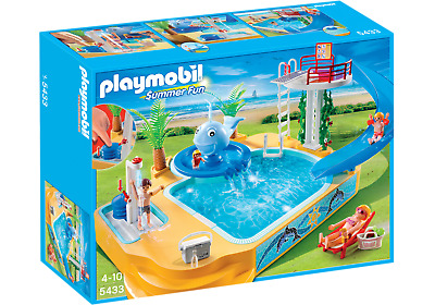 NEW Playmobil Family (Summer) Fun - Children's Pool with Whale Fountain 5433