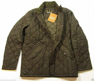Barbour Men's Olive Green (Brownish Green) Chelsea Sportsquilt Quilted Jacket