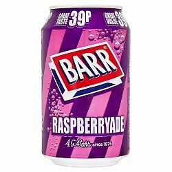 Barr Raspberryade 330ml can fizzy soft drink case of 24