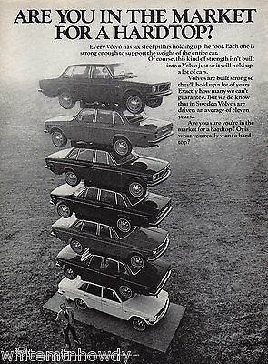 1971 VOLVO Stack of 7 Cars Photo AD