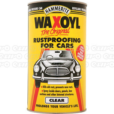 Waxoyl Cartridge Can Clear 2.5L Kills Rust Anti-Rust Flexible Hammerite 5092947