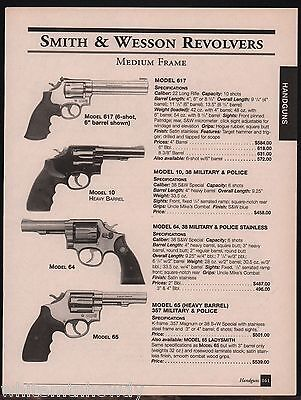 2001 SMITH & WESSON Model 617, Military & Police 10, 64 & 65 Revolver AD