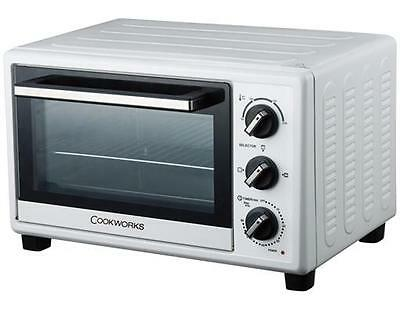 Ex Display Boxed Cookworks MG18CHV Conventional Mini Oven Grill 1300W 18L -White