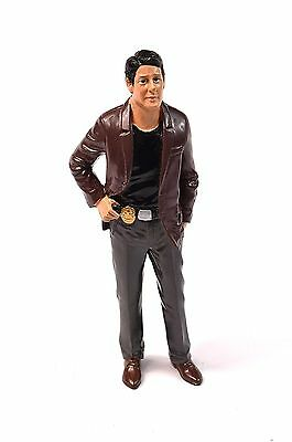 Us Police Detective 1 Figure American Diorama 23891 1:24 Brown Jacket
