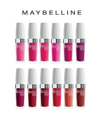 Maybelline Superstay 14 Hour Lipstick Pink Red Brown  (White Lid) *Choose*