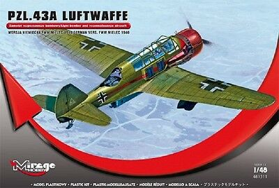 MIRAGE HOBBY® 481311 PZL.43A Luftwaffe Version FWM Mielec 1940 in 1:48