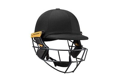 2017 Masuri Original Series MKII Black Cricket Helmet with Steel Grill