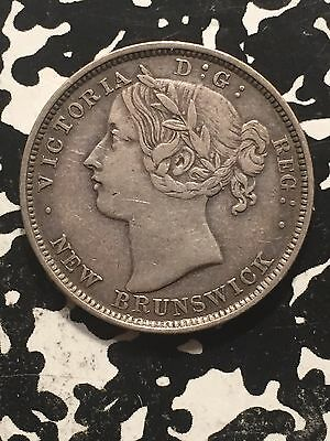 1862 New Brunswick 20 Cents Lot#1605 Silver! Nice! Scarce Type!