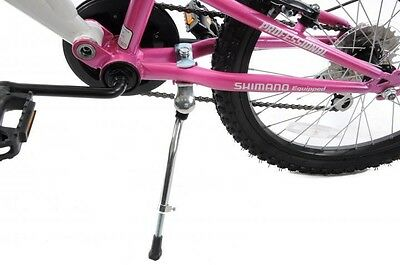"Ammaco 16""-20"" wheel kids bike adjustable propstand kickstand stand alloy silver"