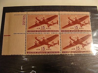 * US Scott # C 28 Mint Never Hinged -- Great Block of Stamps !