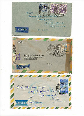 Brazil.Three Air Mail Covers.