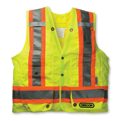 Oregon Reflective High Visability Yellow Surveyor Safety Vest Construction