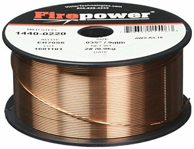 "Firepower 1440-0220 MIG Welding Wire, Solid Wire, .035"" Wire Size, 2 lb Spool"