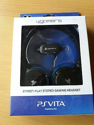 ** PS VITA STEREO GAMING HEADSET ** 4Gamers Official ** PS3 PS4 ** NEW BOXED **