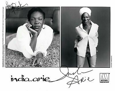 India Arie signed 8x10 publicity photo / autograph inscribed to Rick