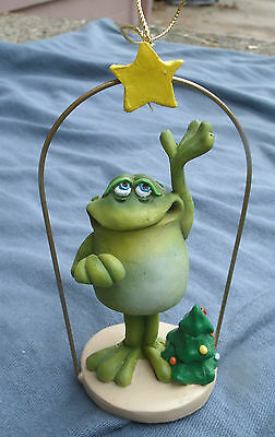 Toad withTree & Star Ornament,Russ,Artist Doug Harris -yule,christmas,holiday