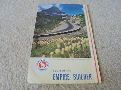 Vintage 1943 Great Northern Railway Railroad Menu Route of the Empire Builder
