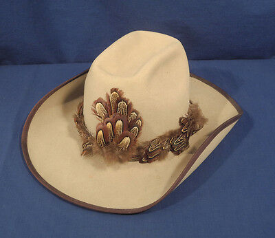 Vintage American Hat Company Pure Wool Texas Hat Signed OJ Simpson Peace to You