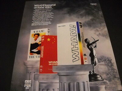 WHAM! Is Immortal On Home Video original 1987 PROMO POSTER AD mint condition