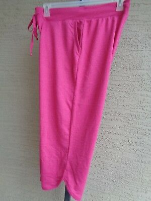 f7ec974d911 NEW JUST MY SIZE PULL ON COTTON BLEND FRENCH TERRY JERSEY KNIT CAPRIS 4X  Pink