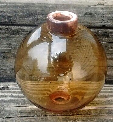 Amber Glass Lightning Rod Ball Roof Home Cabin Decor