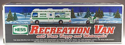 Hess Gasoline Recreational Van With Dune Buggy and Motorcycle 1998 New In Box