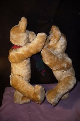 "2 Vintage ""bearly Makin' It"" Mohair Bears From Lakewood Colorado W/ Growlers"