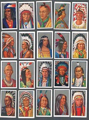 1927 Godfrey Phillips Red Indians Tobacco Cards Complete Set of 25