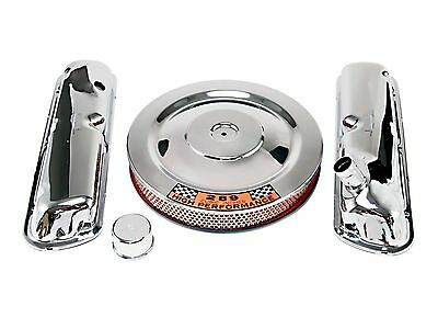 1964-1973 Mustang GT V8 Valve Covers Engine Chrome Kit