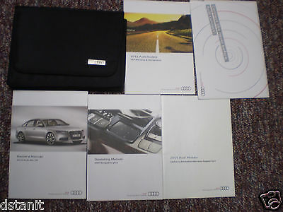 2015 Audi A6 Complete Owners Manual Books Nav & Connect Guide Case All Models
