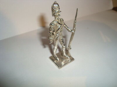 Superbly Detailed Solid Sterling Silver Soldier Figure 1977 Napoleonic Grenadier