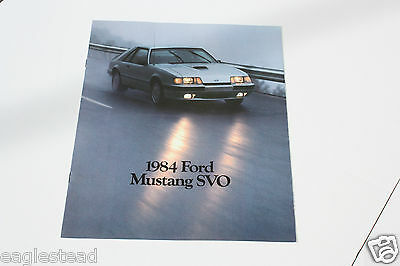 Auto Brochure - Ford - Mustang SVO - 1984 (AB407)