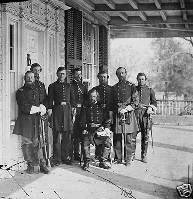 Union General Isaac Stevens and Staff Beaufort, SC - 8x10 US Civil War Photo
