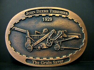 John Deere 1929 The Grain Saver Thresher Belt Buckle Limited Ed #003 1993 Moline