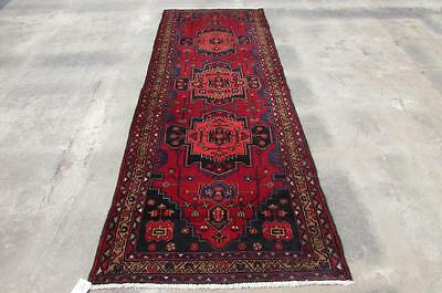 3'5X9'9 hand knotted tribal Persian Rug Vintage Woolen  Oriental Carpet  60