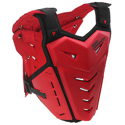 Adjustable Adult MX Offroad Motocross ATV Chest Back Roost Guard Protector Red