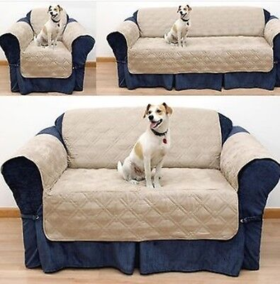 Babz Quilted Sofa Cover/Pet Protection for Couch Water Restistant 1 Seater