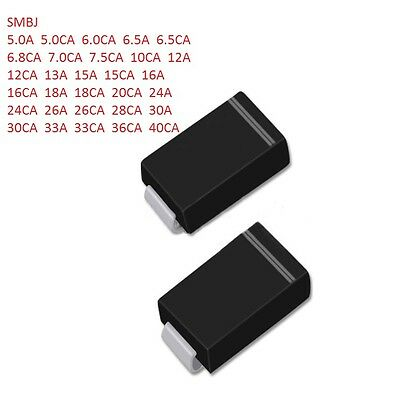 SMBJ5A/6A/10A/12A/13A/15A/18A/24A/30A/40A-E3/61 CA - Free P&P New TVS SMD Diode