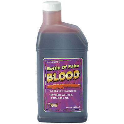 Pint Of Fake Red Stage Blood Liquid Theatrical Makeup Haunted House Halloween