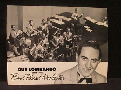 Guy Lombardo His Brothers & His Bond Bread Orchestra Vintage Tea Time Tunes Ad