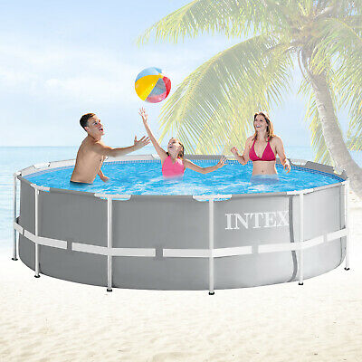 Intex 366x91 Schwimmbecken Swimming Pool Schwimmbad Frame Metal Stahlwand